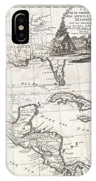 iPhone Case - 1798 Cassini Map Of Florida Louisiana Cuba And Central America by Paul Fearn