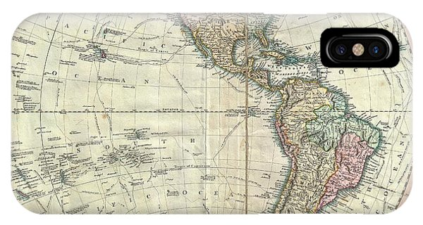 iPhone Case - 1799 Cary Map Of The Western Hemisphere  by Paul Fearn