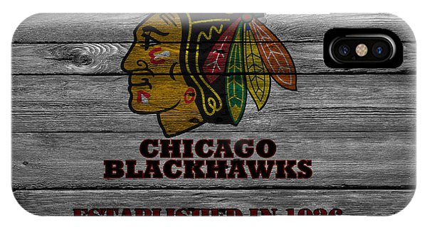 Puck iPhone Case - Chicago Blackhawks by Joe Hamilton