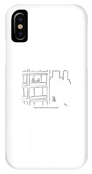 Outsourcing? First Door On Your Right IPhone Case