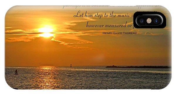 180- Henry David Thoreau IPhone Case