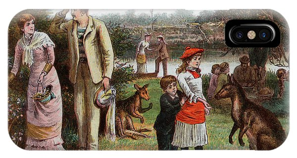 1880s iPhone Case - 1800s 1880s 1881 Summer Picnic Scene by Vintage Images
