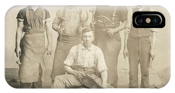 1800's Vintage Photo Of Blacksmiths IPhone Case