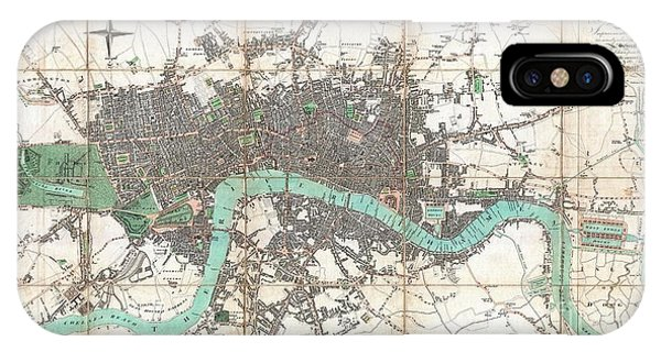iPhone Case - 1806 Mogg Pocket Or Case Map Of London by Paul Fearn