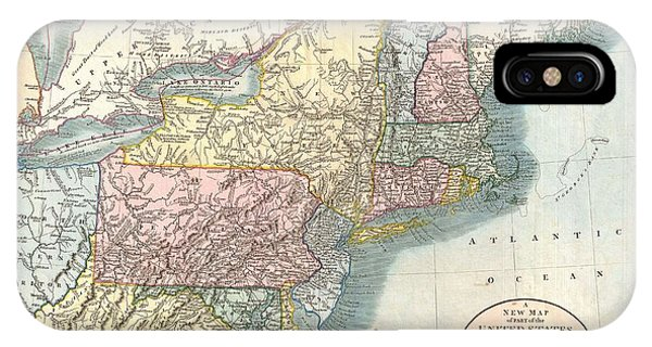 Map Of New York And Quebec.Map Of Quebec Iphone Cases Fine Art America