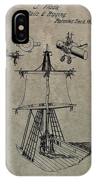 Schooner iPhone Case - 1836 Sailboat Patent by Dan Sproul