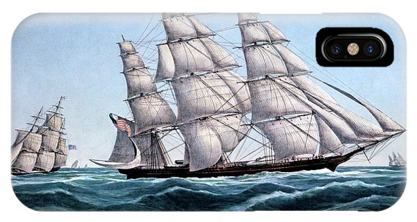 1850s Clipper Ship Sweepstakes - IPhone Case