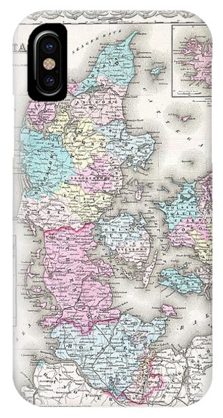 iPhone Case - 1855 Colton Map Of Denmark by Paul Fearn