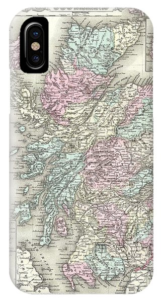 iPhone Case - 1855 Colton Map Of Scotland by Paul Fearn