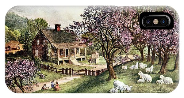 1860s American Homestead Spring - IPhone Case