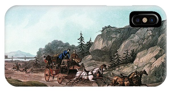 Accident iPhone Case - 1860s Passengers Aboard A Runaway by Vintage Images