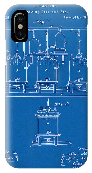 Brewery iPhone Case - 1873 Brewing Beer And Ale Patent Artwork - Blueprint by Nikki Marie Smith