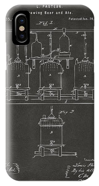 1873 Brewing Beer And Ale Patent Artwork - Gray IPhone Case
