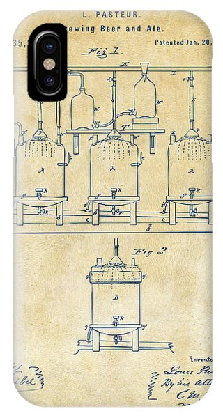 Brewery iPhone Case - 1873 Brewing Beer And Ale Patent Artwork - Vintage by Nikki Marie Smith