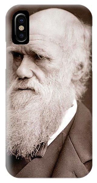 1877 iPhone Case - 1877 Charles Darwin Portrait Photograph by Paul D Stewart