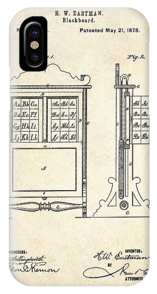 Classroom iPhone Case - 1878 Blackboard Patent Art by Gary Bodnar