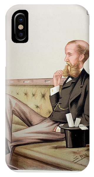 1878 Sir John Lubbock Portrait Cartoon IPhone Case