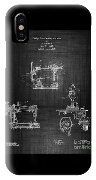 1885 Singer Sewing Machine IPhone Case