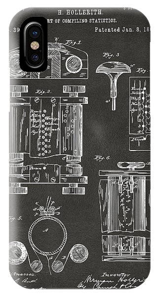 1889 First Computer Patent Gray IPhone Case