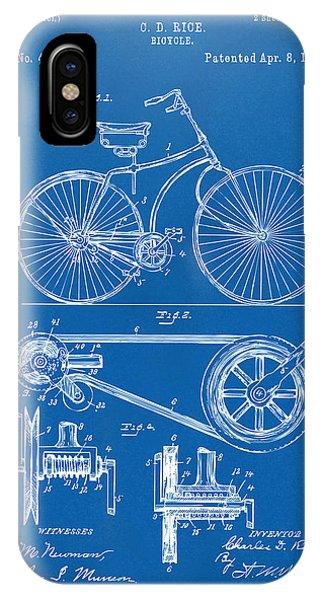 1890 Bicycle Patent Artwork - Blueprint IPhone Case