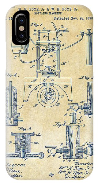 Brewery iPhone Case - 1890 Bottling Machine Patent Artwork Vintage by Nikki Marie Smith