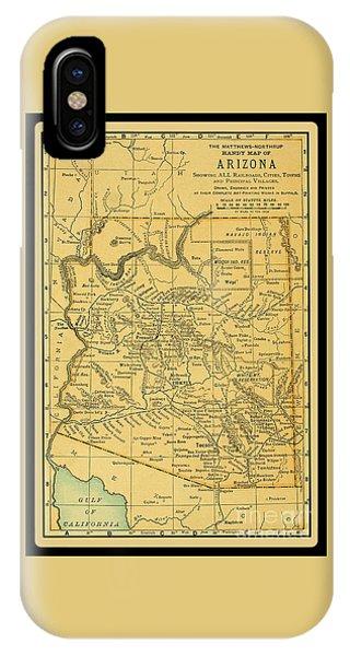 1891 Arizona Map IPhone Case