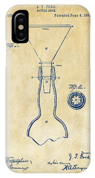 Brewery iPhone Case - 1891 Bottle Neck Patent Artwork Vintage by Nikki Marie Smith