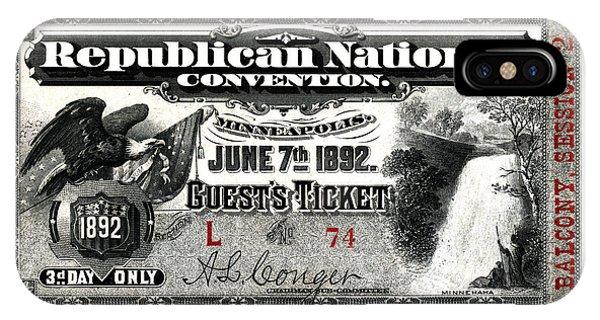 1892 Republican Convention Ticket IPhone Case