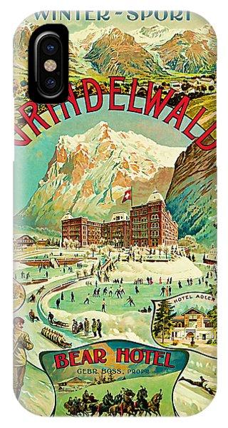 1893 Grindelwald Vintage Travel Art IPhone Case