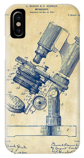 1899 Microscope Patent Vintage IPhone Case