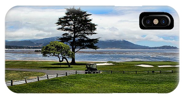 18th At Pebble Beach Panorama IPhone Case