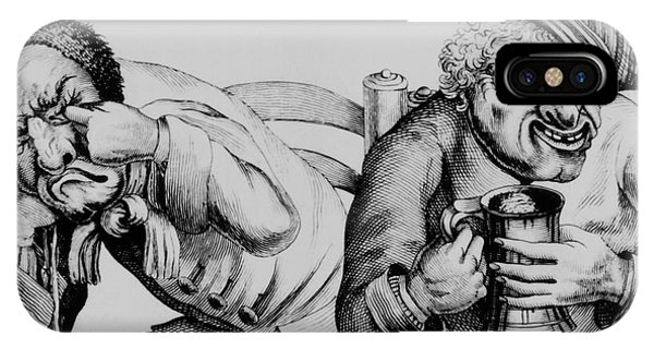 Alcoholism iPhone Case - 18th Century Engraving Of Alcoholics by National Library Of Medicine/science Photo Library