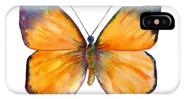 Moth iPhone Case - 19 Delias Anuna Butterfly by Amy Kirkpatrick