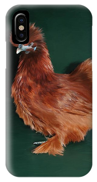 19. Red Silkie Hen IPhone Case