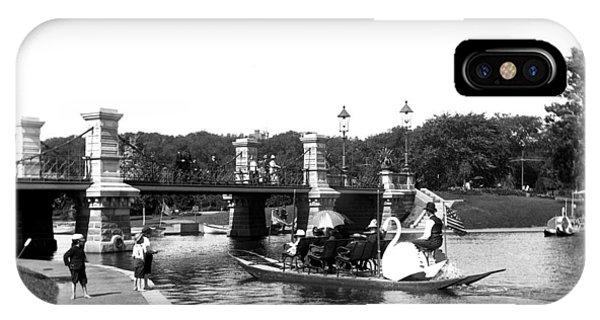 1900 Boston Swan Boats IPhone Case