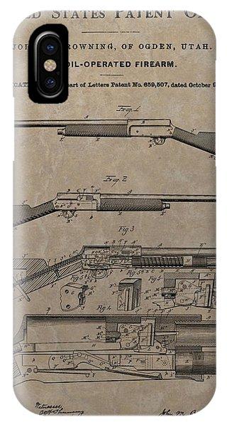 1900 Firearm Patent  IPhone Case