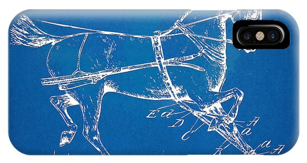 Illusion iPhone Case - 1900 Horse Hobble Patent Artwork by Nikki Smith