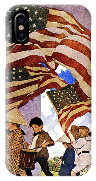 July 4 iPhone Case - 1900s 1904 Drawing By Maxfield Parrish by Vintage Images