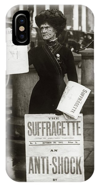 Equal Rights iPhone Case - 1900s British Suffragette Woman by Vintage Images