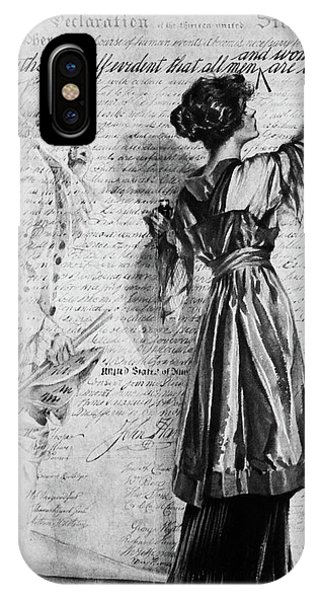 Equal Rights iPhone Case - 1900s Illustration Of Turn Of The 20th by Vintage Images