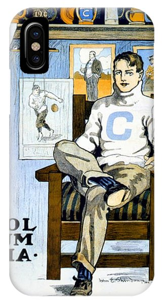 1902 - Columbia University Sports Poster - Color IPhone Case