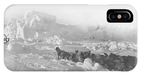 Sled Dog iPhone Case - 1903-5 Ziegler Arctic Expedition by Library Of Congress/science Photo Library