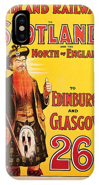 1904 Scotland - Vintage Travel Art IPhone Case