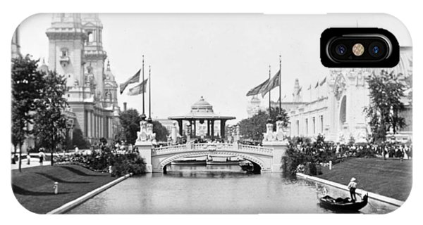 1904 Worlds Fair Lagoon And Electricity Building IPhone Case