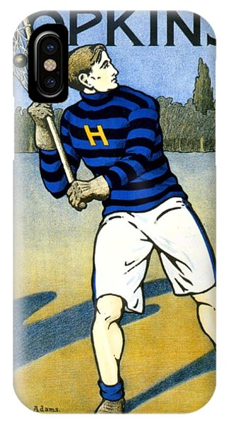 1905 - Johns Hopkins University Lacrosse Poster - Color IPhone Case