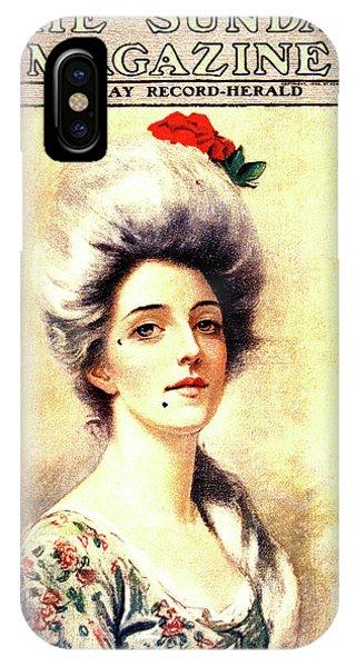 1905 Magazine Cover Portrait Of 1700s IPhone Case