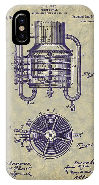 1909 Jett Whiskey Still Patent IPhone Case