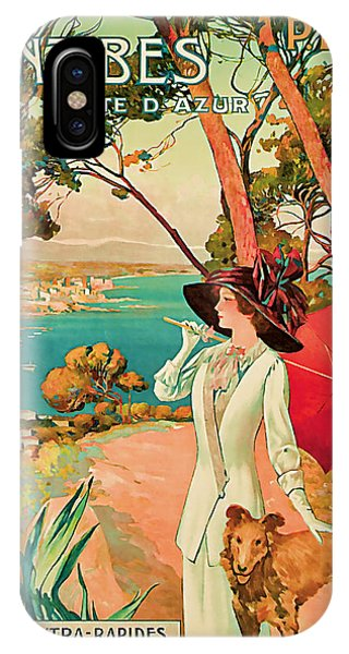1910 Antibes Vintage Travel Art  IPhone Case