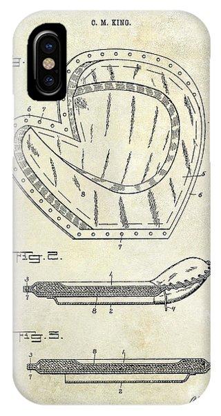 Baseball Gloves iPhone Case - 1910 Baseball Patent Drawing by Jon Neidert