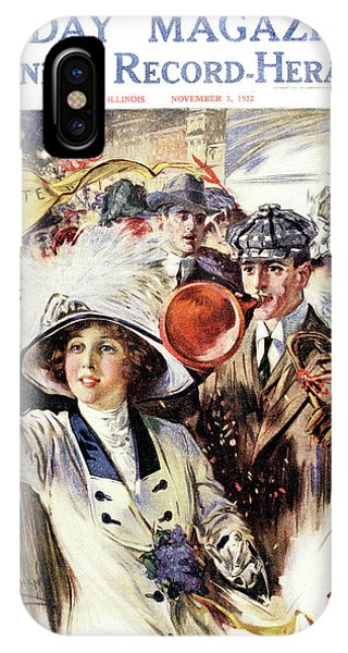 Equal Rights iPhone Case - 1910s 1912 Cover Sunday Magazine by Vintage Images